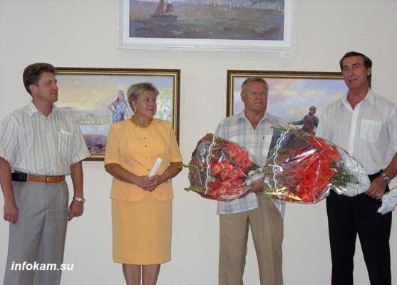 Камышин. 2008 год. На открытии выставки П.И. Бутяева