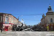 Место баррикады на улице Саратовской (Октябрьской)