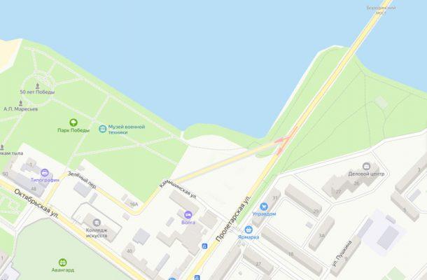 Место возможного съезда (использована карта Яндекса)