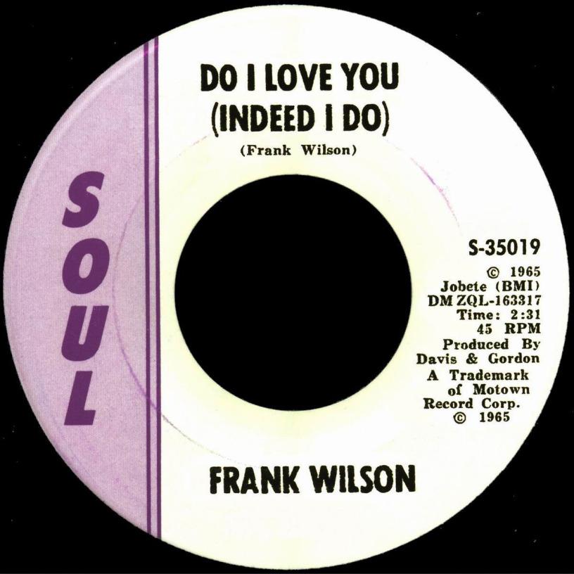 «Альбом Frank Wilson. Do I Love You (Indeed I Do)»