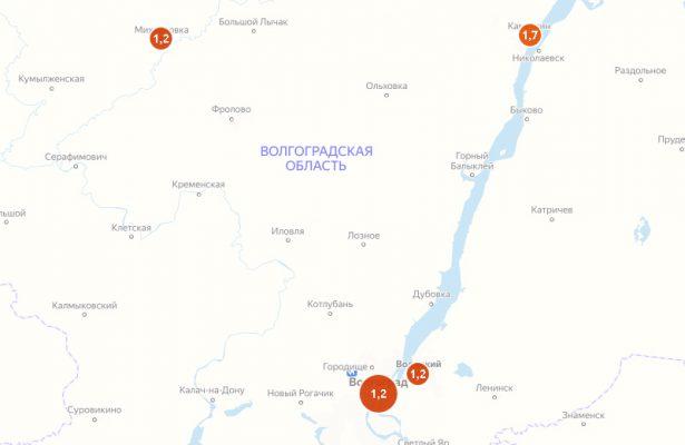 Скриншот карты сервиса Яндекса