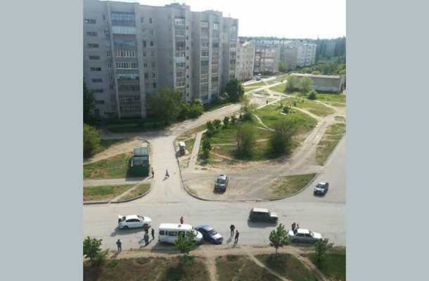 ДТП на улице Базарова (Автор @chernavinaviktoriia)