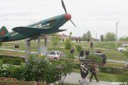 Камышин. Макет самолета ЯК-1, на котором летал А.П. Маресьев