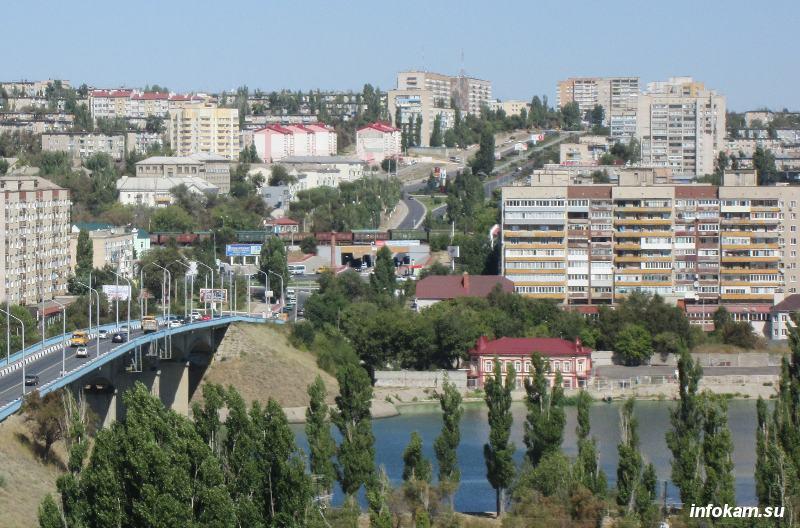 Камышин. Вид на северную часть через реку Камышинку