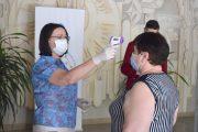 На входе измерят температуру (пресс-служба администрации Камышина)