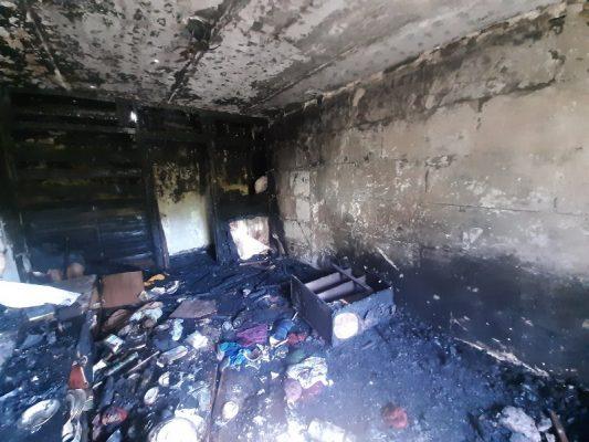 Последствия пожара в Камышине, на улице Набережной
