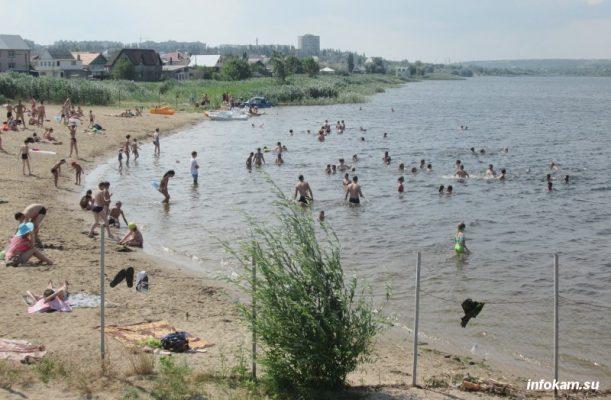 Камышин. Пляж «Центральный» (у администрации)