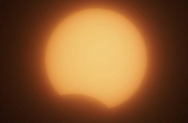 Начало солнечного затмения 21 июня 2020 года (Волгоградский планетарий)