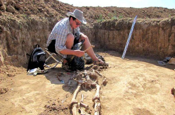 На месте раскопок (Волгоградский госуниверситет)