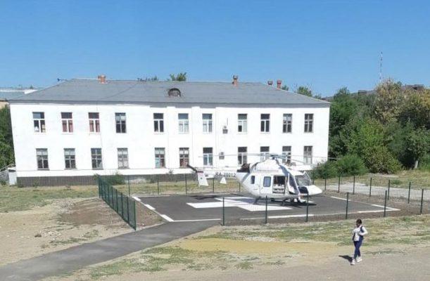 Вертолетная площадка в Камышине (пресс-служба администрации Волгоградской области)