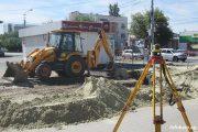 Улица Октябрьская (3 сентября). Стартовали очередные земляные работы