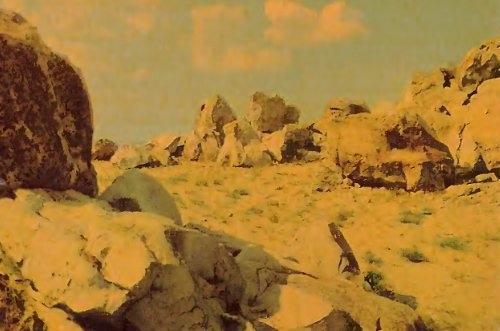 "Горы Уши на открытке из набора ""Камышин"" (1969 год)"