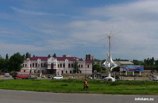 Камышин. Площадь Комсомольская. 2005 год
