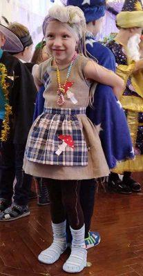 Елизавета Воронина (костюм современной Бабы Яги)