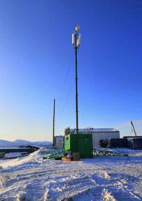 Вышка собственной корпоративной частной сети LTE в диапазоне 1800 (Удоканское месторождение)