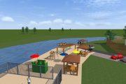Проект благоустройства пляжной зоны в Котельниково