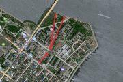Сток воды в бывший овраг (схема на карте Яндекс)