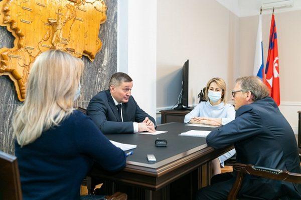 Встреча Бориса титова и Андрея Бочарова (пресс-служба администрации Волгоградской области)