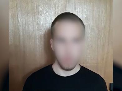 Задержанный в Ростовской области (оперативная съемка ГУ МВД по Волгоградской области)