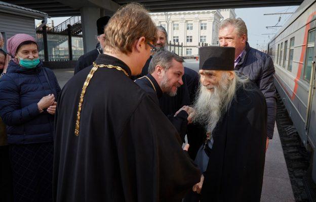 Встреча схиархимандрита Илия (фото Волгоградская митрополия)