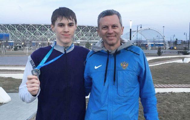 Игорь Ломакин и тренер Андрей Лупачев