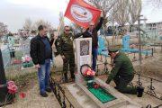 На могиле воина-интернационалиста Владимира Ивановича Недугова (село Антиповка Камышинский района)