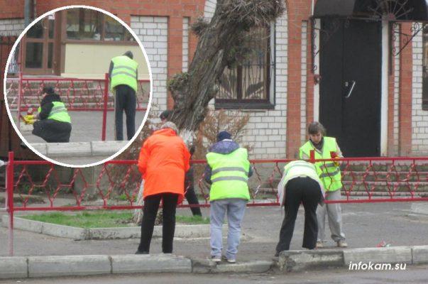 Идут работы на улице Пролетарской