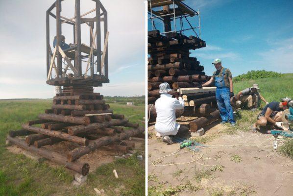 Строится мельница (группа «Поселение Родовых Поместий «Радужное у Медведицы»)