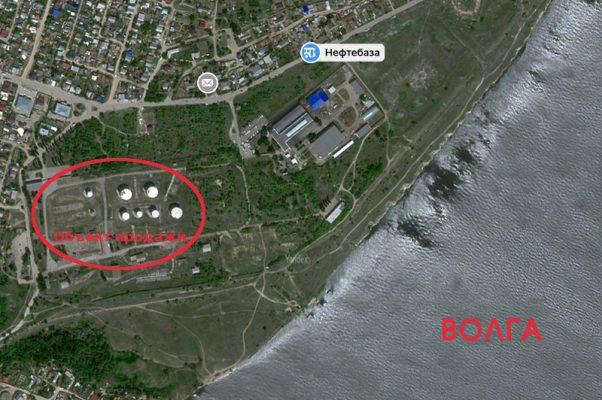 Объект продажи на Яндекс-карте (надписью Нефтебаза отмечена автобусная остановка)