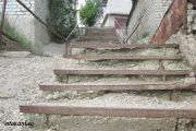 Камышин. Состояние лестницы на улице Леонова (26 мая 2021 года)