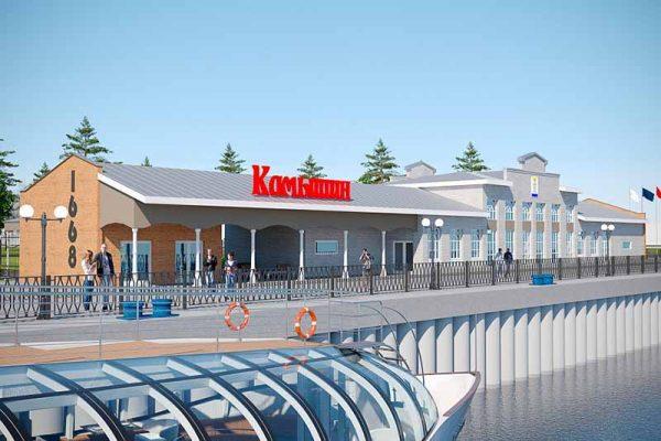Эскиз будущего порта в Камышине (фото пресс-службы администрации Волгоградской области)