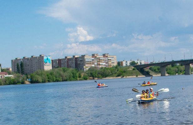 Камышин. Традиционный водный праздник «Байдарки рулят!»