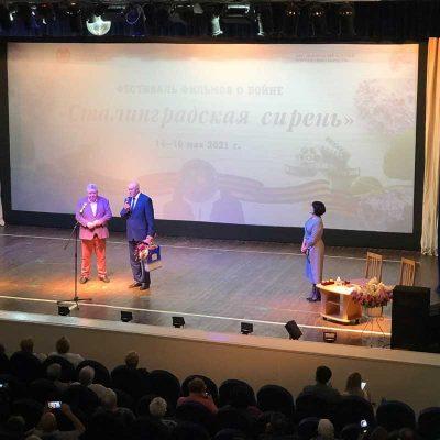 Актёр Александр Тютрюмов в Камышине (фото: соцгруппа «Волонтёры Победы. Город Камышин»)
