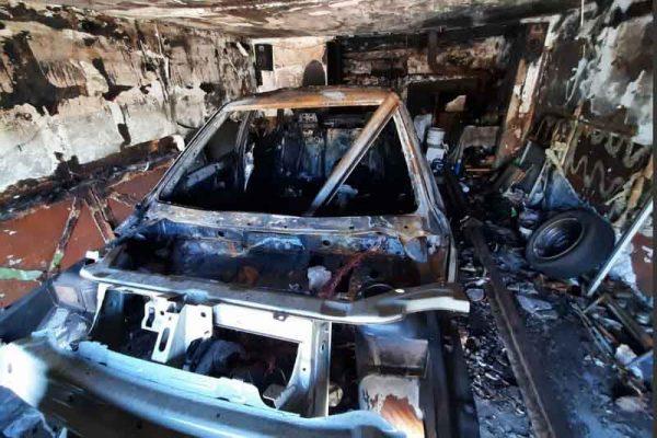 Последствия возгорания автомобиля (Отдел надзорной деятельности и профилактической работы по г.Камышину и Камышинскому району)