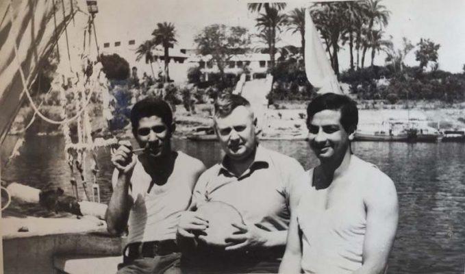 Камышанин Е.В. Поликарпов, военный советник в Египте среди строителей Асуанской плотины (1970 год)