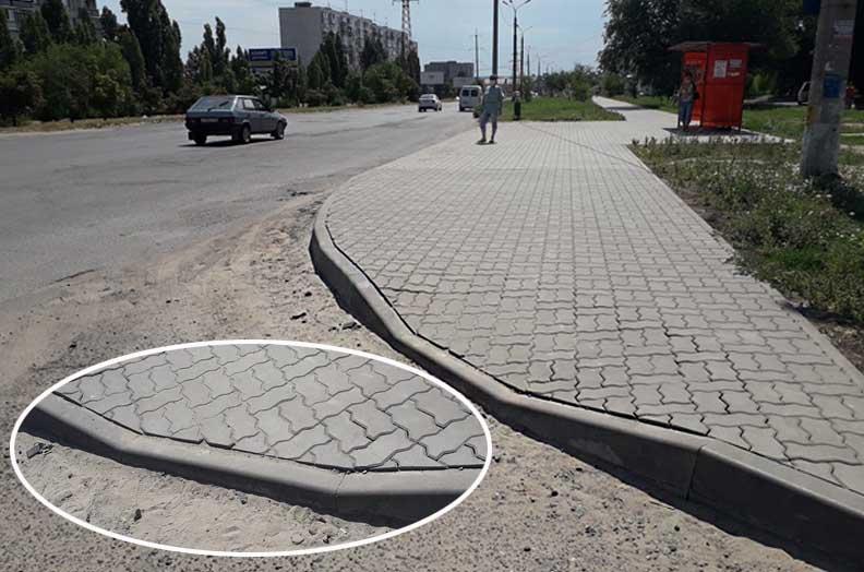 Заезд на вновь отремонтированном участке улицы Базарова оказался недоступен для инвалида-колясочника