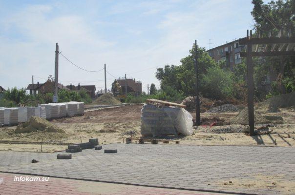 Камышин, создание тротуара на улице Республиканской