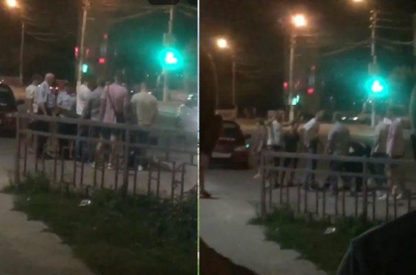 ЧП на улице Пролетарской (скриншот кадров видеозаписи)