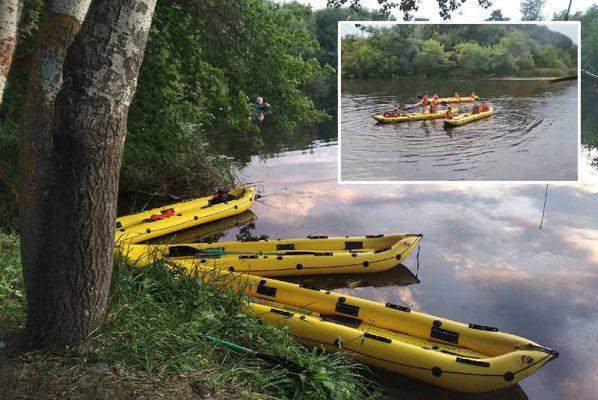 На Иловле-реке: мастер-класс по управлению байдарками и экологическая акция (фото Татьяна Савеко)