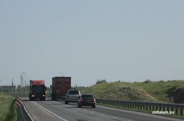 Федеральная автодорога «Сызрань-Саратов-Волгоград» в районе Камышина