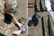 Изъятое оружие (оперативная съемка УФСБ по Волгоградской области)