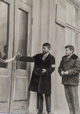 Открытие Дома пионеров и вид здания (1964 год, из архива Юлии Карпенко)