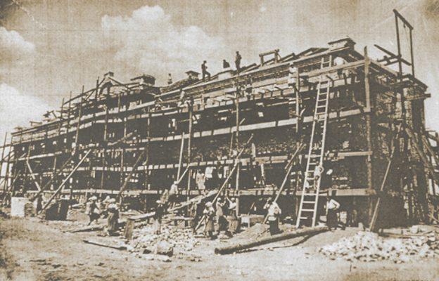 Камышин. Строительство школы № 4, в будущем № 1 (1935 год)