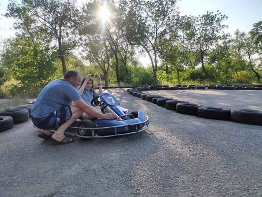 На картодроме в парке Текстильщиков (фото Андрея Бородина)