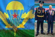 Серго Саргсян и командир 56-й гвардейской отдельной десантно-штурмовой бригады гвардии полковник Андрей Кондрашкин