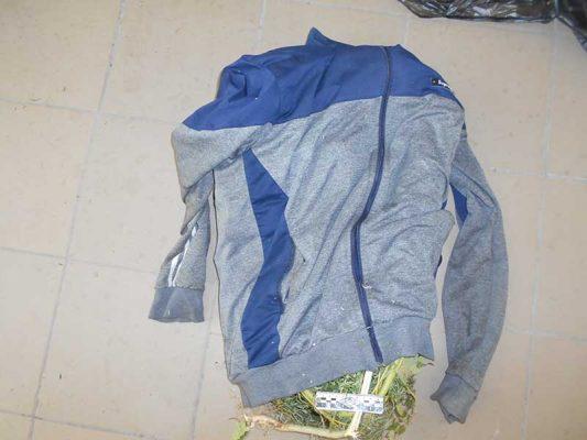 Изъятая куртка с наркотиком (Межмуниципальный отдел МВД России «Камышинский»)