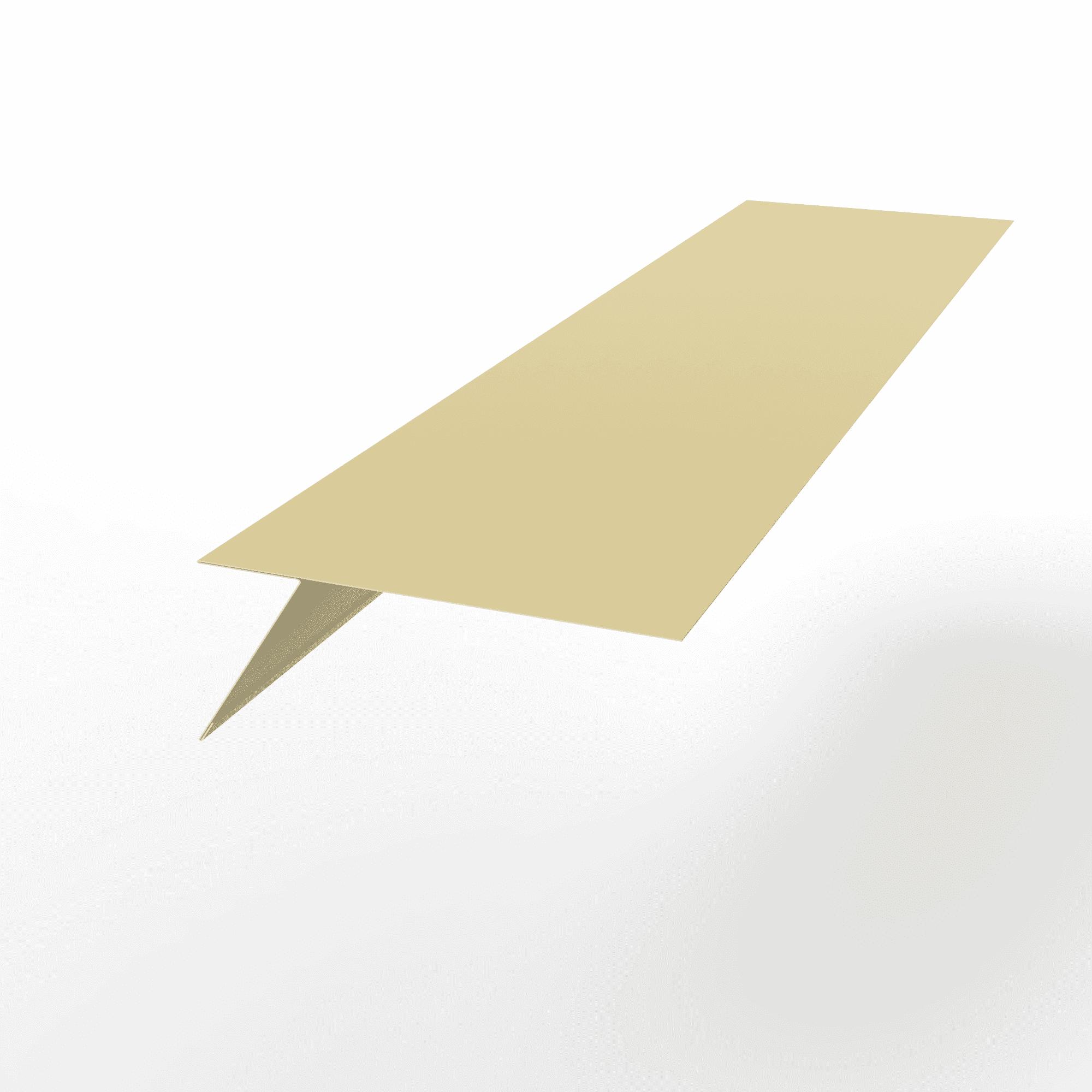 Планка карнизная оцинкованная с порошковым покрытием 0,45мм RAL 1014
