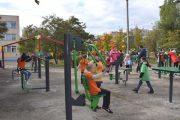 На открытии площадки уличных тренажёров (фото пресс-служба администрации Камышина)